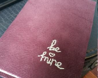 Handbound Leather 'Be Mine' Journal and Sketchbook