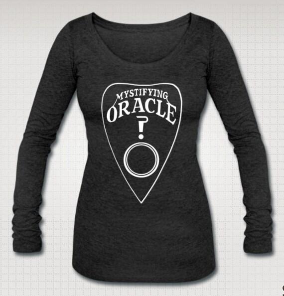 Ouija Mystifying Oracle Long Sleeve Scoop Neck Shirt
