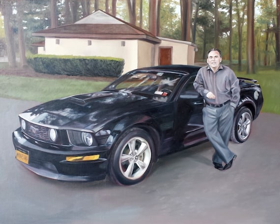 Custom Car Painting - Car Artwork - Classic Car Oil Painting