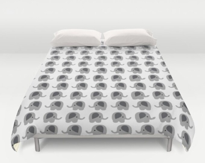 Duvet Cover - Elephants - Bed Cover - Cover Only - Bedding - Made to Order