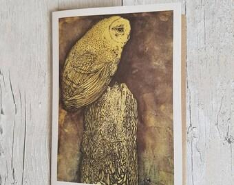 Owl - Blank art card