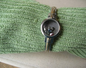 upcycled watch bracelet
