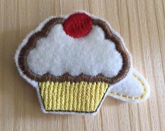 Cutie Pie Cupcake felt hair clip