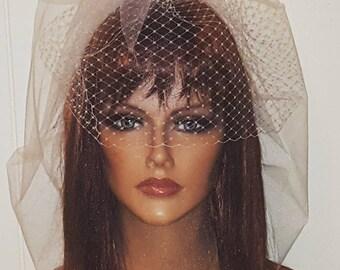 Wedding Veil, Double Layer Bridal Veil, French Net, Tulle Bridal  Veil, White veil, Ivory veil, Champagne veil, wedding veils, Bridal veils