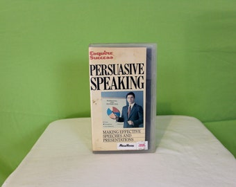Persuasive Speaking VHS Tape. Vintage Trashy Awkward Cringe VHS Tape. Esquire Success 1985 How To Persuasively Speak Dick Cavett VHS.