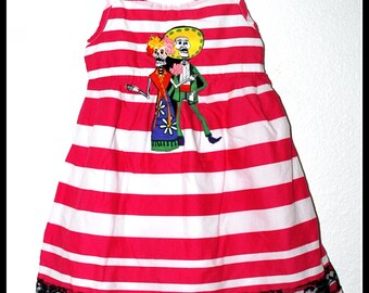 Girls Rockabilly Day of the Dead Dress  ........Size 3