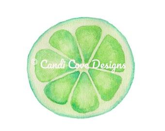 Lime art print, kitchen art, citrus art, home decor, minimalist art, kitchen wall art, lime