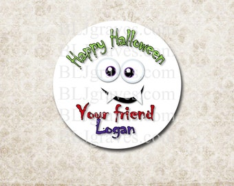 Personalized Halloween Stickers Labels Party Favor Treat Bag Sticker SH028