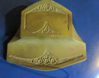 art nouveau bronze inkwell double inkwell gorgeous