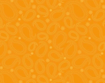 Primavera Paisley in Tangerine Cotton Fabric by Patty Young for Riley Blake