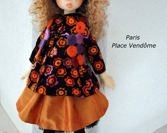 """OOAK outfit set for Kaye Wiggs - My Meadow - Linda Macario MSD dolls  """"Paris - Place Vendôme"""" by Cocoline"""