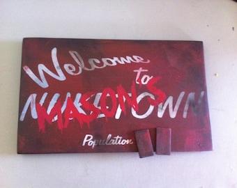 Custom Zombie Door or gamer room sign -