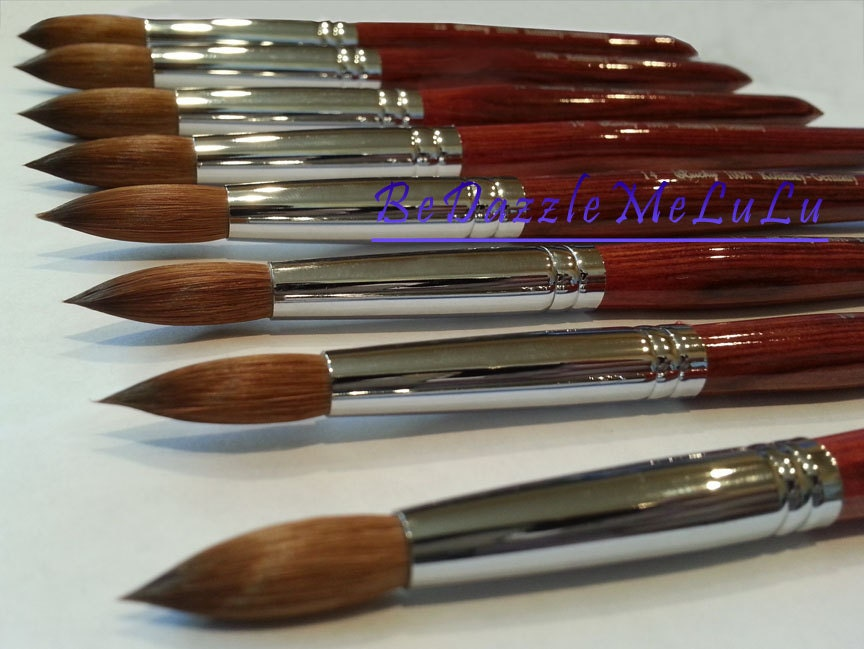 LUCKY Professional Red Wood Kolinsky Red Sable Acrylic Nail ...