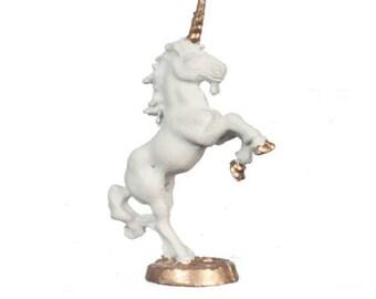 Dollhouse Miniature Unicorn Statue. 1:12 Scale