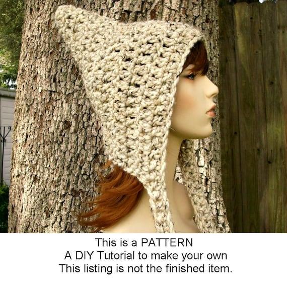 Instant Download Crochet Pattern - Crochet Hat Pattern Crochet Signature Pixie Hat - Crochet Pixie Hat Pattern Womens Accessories