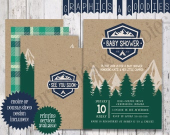 Wilderness Adventure Baby Shower Invitation