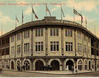 Vintage Postcard, Pittsburgh, Pennsylvania, Forbes Field, Pirates Baseball Stadium, ca 1910