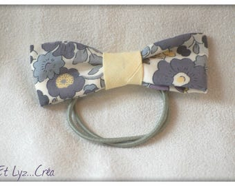 Elastic bow in Liberty Betsy Pebble
