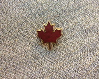 Canadian Maple Leaf Pin Vintage Lapel Pin Red Maple Leaf