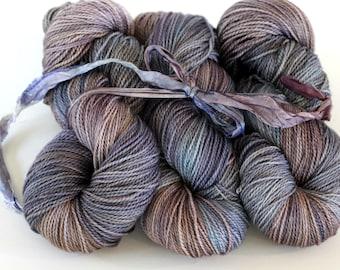 Hand Dyed Yarn, Ultrafine SW merino sock, IRIS ROOT, Aphrodite Sock