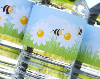 Springtime Daisy Labels - Instant Download