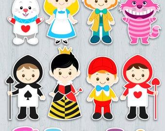 Alice in Wonderland Cake Topper, Alice in Wonderland Centerpiece, Alice in Wonderland Party Decorations