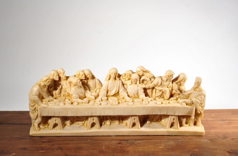 Vintage Religious The Last Supper Figurine Statue