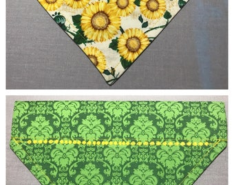 Sunflower reversible bandana
