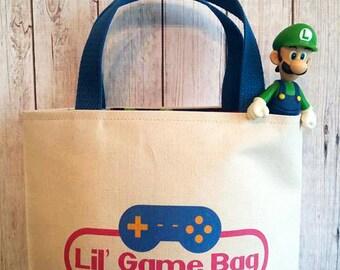 Video game bag,Child's game bag,car trip bag,Video game accessory
