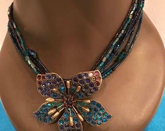 Vintage Statement Floral Necklace