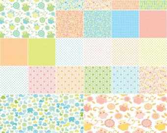 Owls and Pals 5 Inch Squares Charm Pack, 42 Pieces, Maggie and Flo Collection, Contempo Studio, Precut Fabric, Quilt Fabric, Cotton Fabric