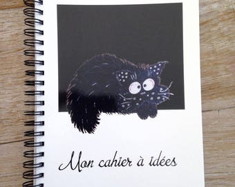 Ideas original notebook with cat fouin night