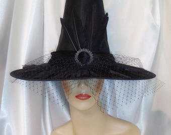 Witch Hat, Zelena Witch Hat, Once Upon A Time Inspired Witch Hat, Wicked Witch of the West Hat, Elphaba Witch Hat, Elegant Witch Hat