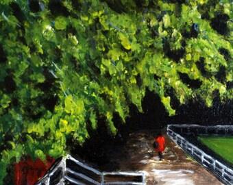 """Red Cape Williamsburg Original Landscape Painting 8 x 10"""""""