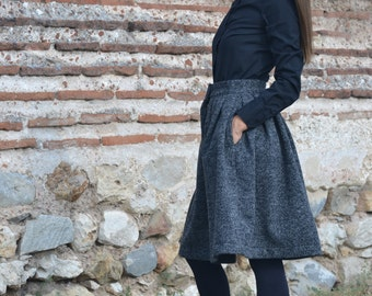 Winter Fashion Neoprene Skirt