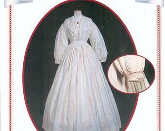 Peachtree Merchantile 206, Dress c.1860, size 18 to 28