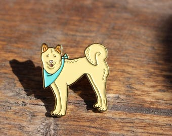 Korean Jindo Dog / Akita Enamel Lapel Pin