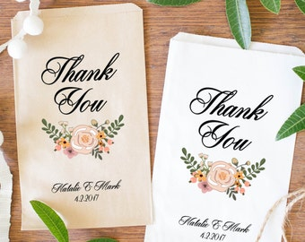 Wedding Favor Bags, Personalized Treat Bags, Bridal Shower Favor Bags- BWE-22/BWE-23