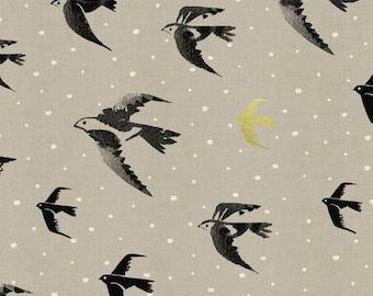 Sea Farer Gold Metallic - BLACK & WHITE 2017 - Cotton and Steel Fabrics - Collaborative 5114-01