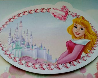 stickers type note pad, Notepad, post it with Disney Princess pattern