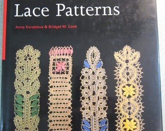 Russian Lace Patterns, lacemaking book, Korableva and Cook, 1996, In languages, English, French, Dutch, German, comprehensive book