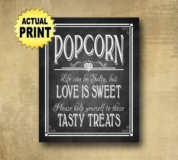 Printed Popcorn wedding sign