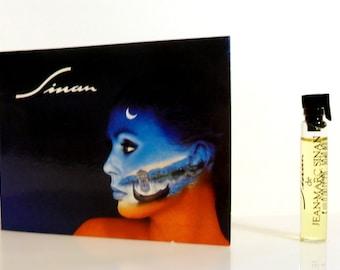 Vintage 1980s Sinan by Jean-Marc Sinan 0.06 oz Eau de Toilette Sample Vial on Card PERFUME