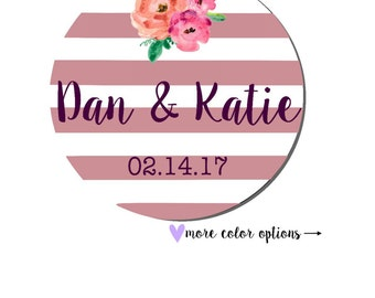 Wedding Sticker Labels- Wedding Invitation Stickers- Wedding Favor Stickers Personalized- Wedding Stickers for Invitations- WS31