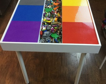 Building bricks table, kids building blocks table , kids large Lego® Table, activity table, train table, art table, Lego table with storage