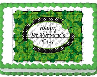 HAPPY ST. PATRICK'S Day Edible Image