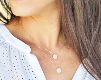 Layered Initial Necklace Set, Personalized Necklace, Silver, Rose or Gold Necklace, Personalized Jewelry, Gift for Mom, Dainty Jewelry