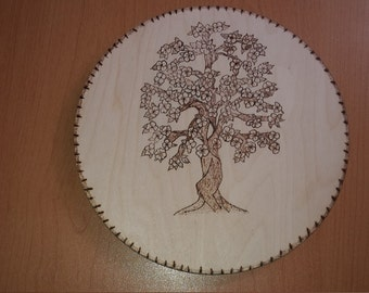Forest tree wooden wall hanger