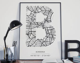 Bordeaux - Monogram (A4) print