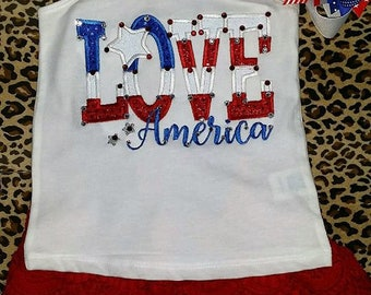 LOVE America Short Set